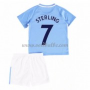 Voetbalshirts kids Manchester City Raheem Sterling 7 thuis tenue 2017-18..