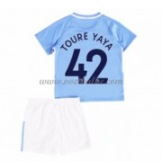 Voetbalshirts kids Manchester City Toure Yaya 42 thuis tenue 2017-18..