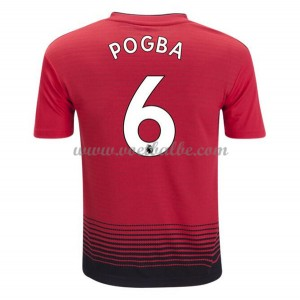 Goedkoop Voetbaltenue Manchester United 2018-19 Paul Pogba 6 Thuisshirt