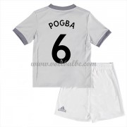 Voetbalshirts kids Manchester United Paul Pogba 6 third tenue 2017-18..