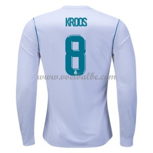 Voetbaltenue Real Madrid Toni Kroos 8 thuisshirt lange mouw 2017-18